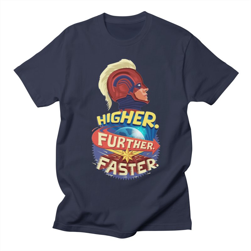 Captain Marvel Higher Further Faster Women's Regular Unisex T-Shirt by Game Of Thrones and others Collection
