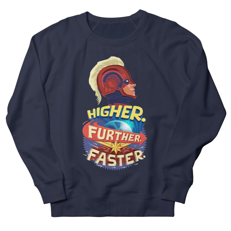 Captain Marvel Higher Further Faster Women's French Terry Sweatshirt by Game Of Thrones and others Collection