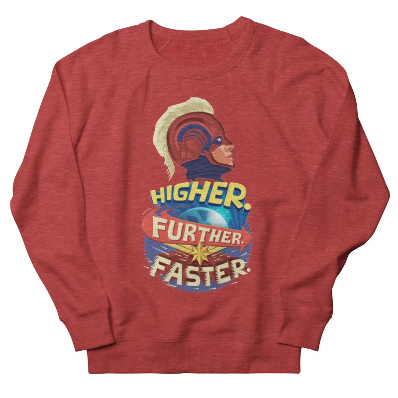 Captain Marvel Higher Further Faster Men's French Terry Sweatshirt by Game Of Thrones and others Collection