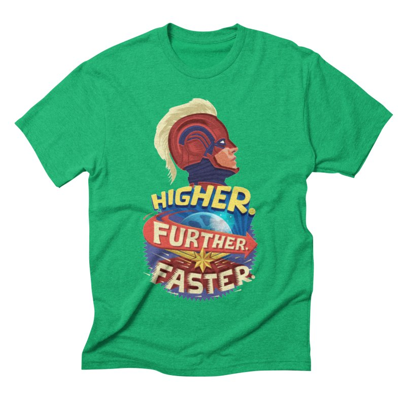 Captain Marvel Higher Further Faster Men's Triblend T-Shirt by Game Of Thrones and others Collection