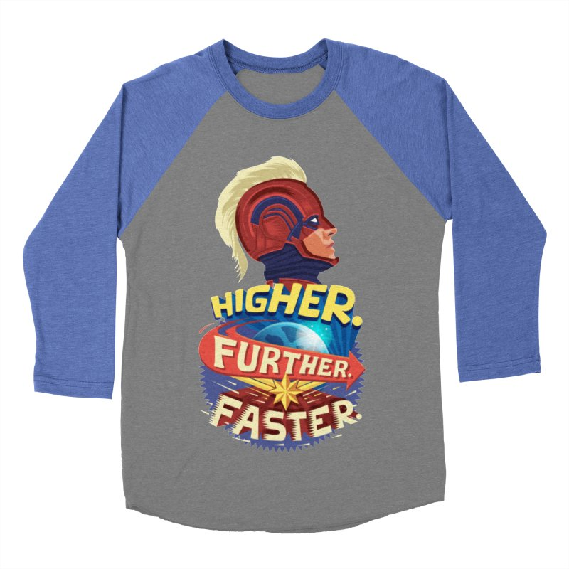 Captain Marvel Higher Further Faster Women's Baseball Triblend Longsleeve T-Shirt by Game Of Thrones and others Collection