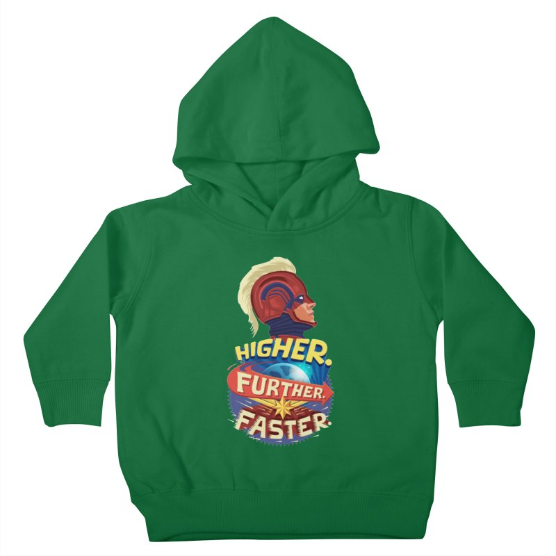Captain Marvel Higher Further Faster Kids Toddler Pullover Hoody by Game Of Thrones and others Collection