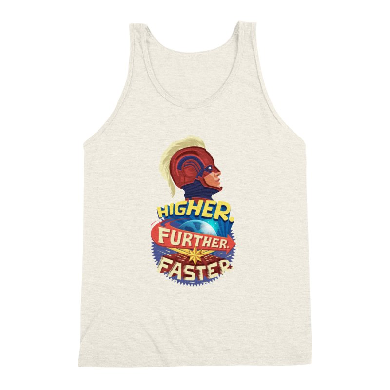 Captain Marvel Higher Further Faster Men's Triblend Tank by Game Of Thrones and others Collection