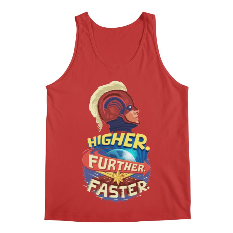Captain Marvel Higher Further Faster Men's Regular Tank by Game Of Thrones and others Collection