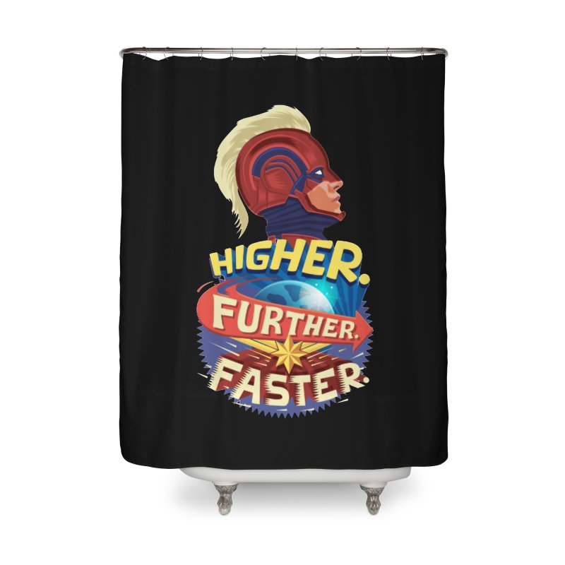Captain Marvel Higher Further Faster Home Shower Curtain by Game Of Thrones and others Collection
