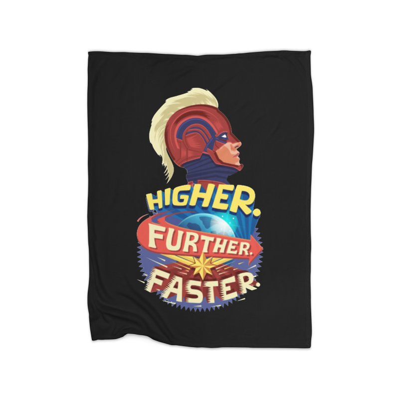 Captain Marvel Higher Further Faster Home Fleece Blanket Blanket by Game Of Thrones and others Collection