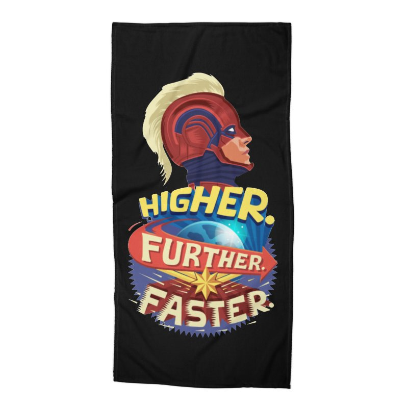 Captain Marvel Higher Further Faster Accessories Beach Towel by Game Of Thrones and others Collection
