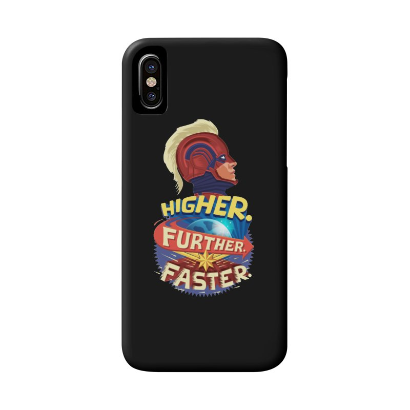 Captain Marvel Higher Further Faster Accessories Phone Case by Game Of Thrones and others Collection