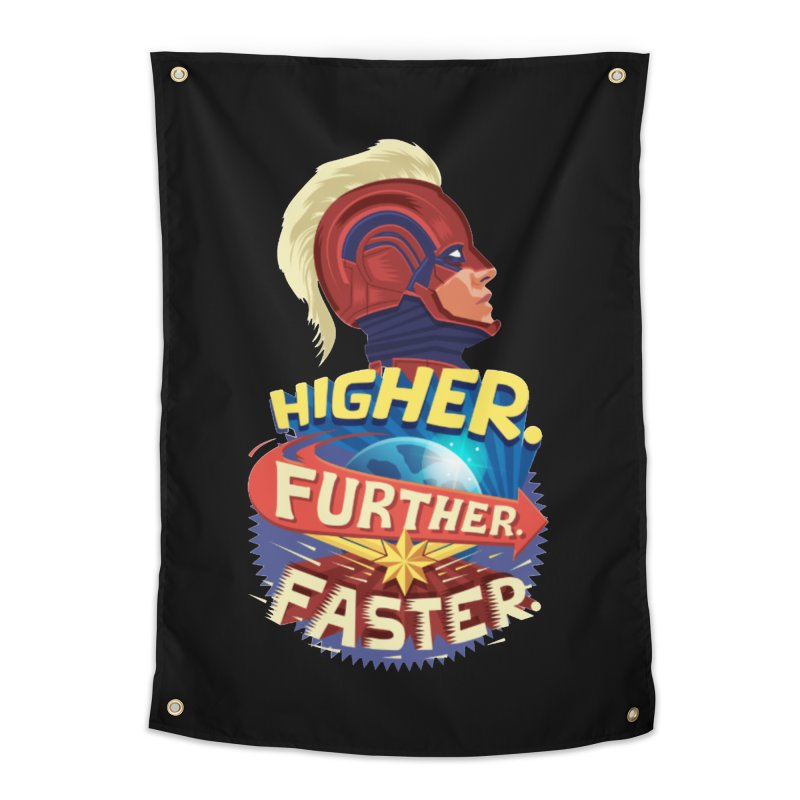 Captain Marvel Higher Further Faster Home Tapestry by Game Of Thrones and others Collection