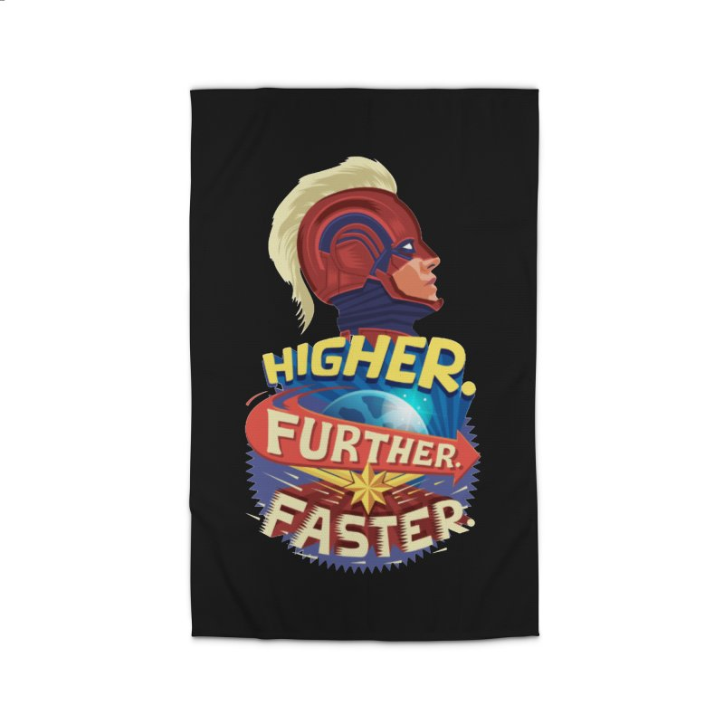 Captain Marvel Higher Further Faster Home Rug by Game Of Thrones and others Collection