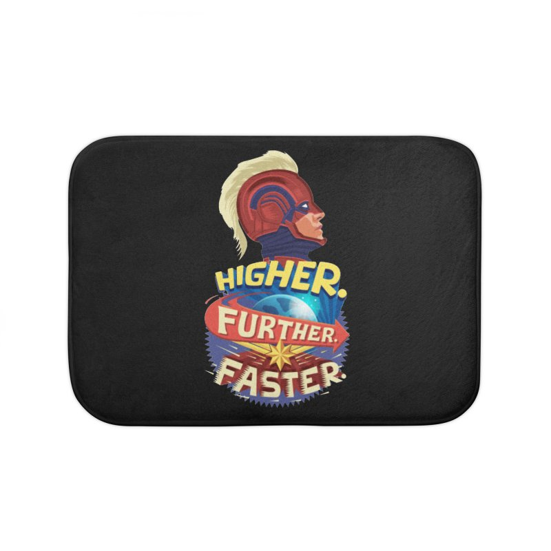 Captain Marvel Higher Further Faster Home Bath Mat by Game Of Thrones and others Collection