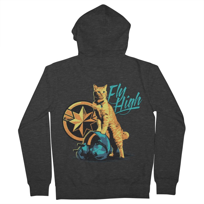 Goose The Flerken Cat Fly High Men's French Terry Zip-Up Hoody by Game Of Thrones and others Collection