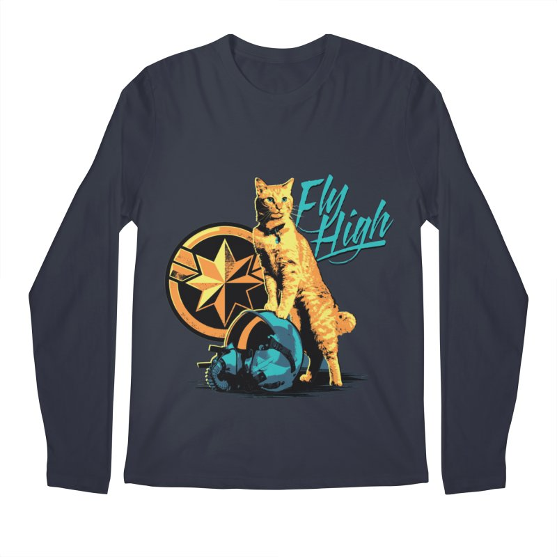 Goose The Flerken Cat Fly High Men's Regular Longsleeve T-Shirt by Game Of Thrones and others Collection