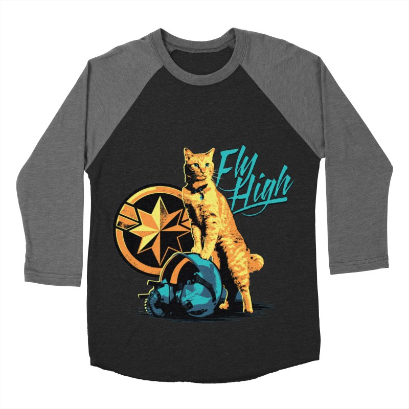 Goose The Flerken Cat Fly High Men's Baseball Triblend Longsleeve T-Shirt by Game Of Thrones and others Collection