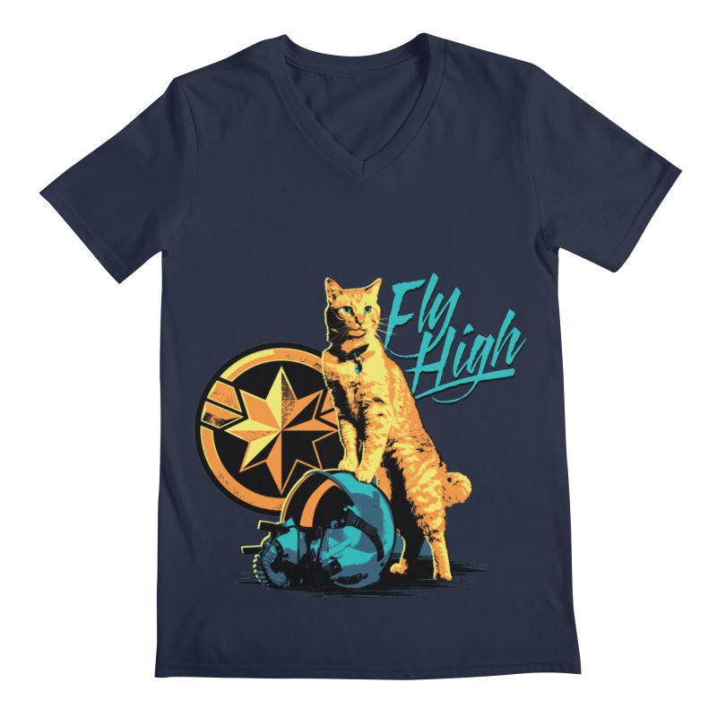 Goose The Flerken Cat Fly High Men's Regular V-Neck by Game Of Thrones and others Collection
