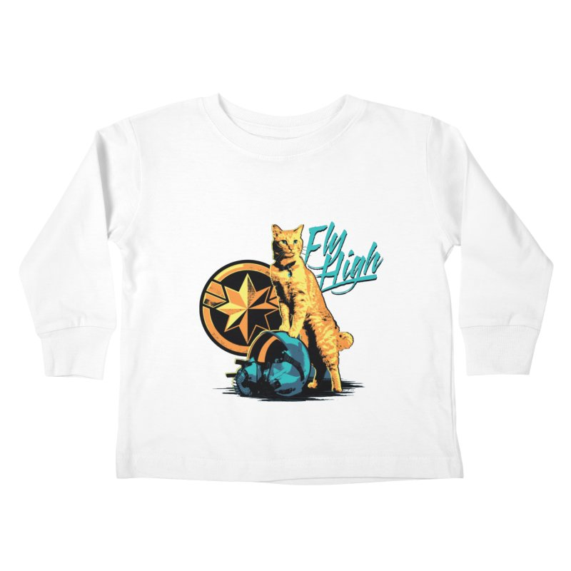 Goose The Flerken Cat Fly High Kids Toddler Longsleeve T-Shirt by Game Of Thrones and others Collection