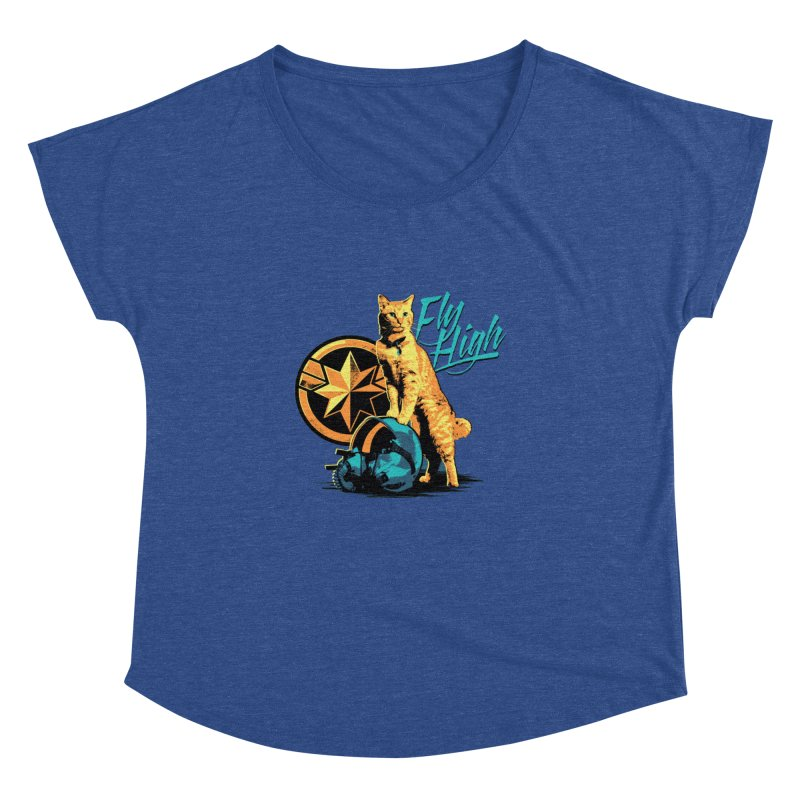 Goose The Flerken Cat Fly High Women's Dolman Scoop Neck by Game Of Thrones and others Collection