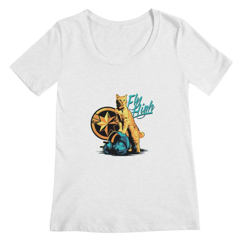 Goose The Flerken Cat Fly High Women's Regular Scoop Neck by Game Of Thrones and others Collection
