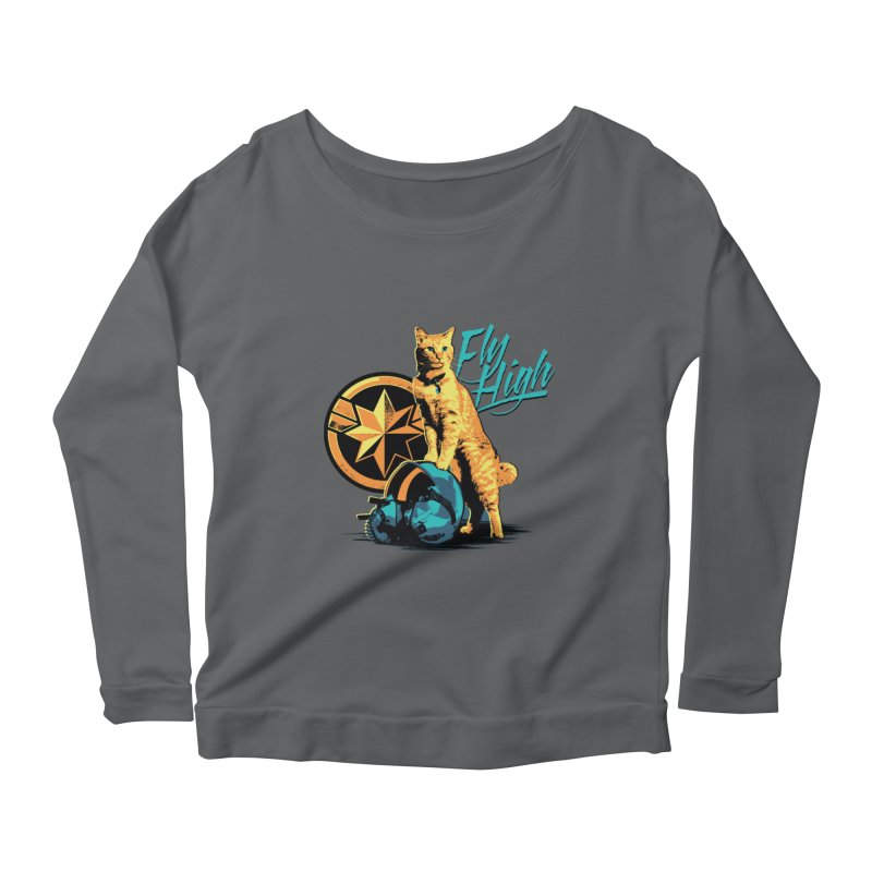 Goose The Flerken Cat Fly High Women's Scoop Neck Longsleeve T-Shirt by Game Of Thrones and others Collection