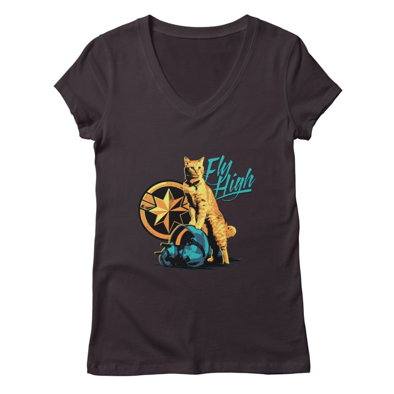 Goose The Flerken Cat Fly High Women's Regular V-Neck by Game Of Thrones and others Collection