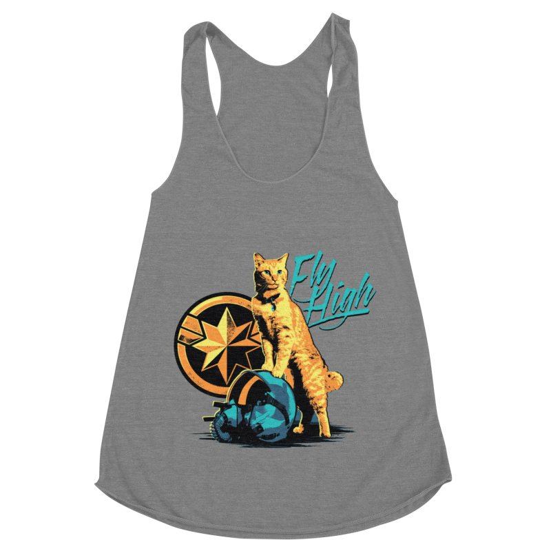 Goose The Flerken Cat Fly High Women's Racerback Triblend Tank by Game Of Thrones and others Collection