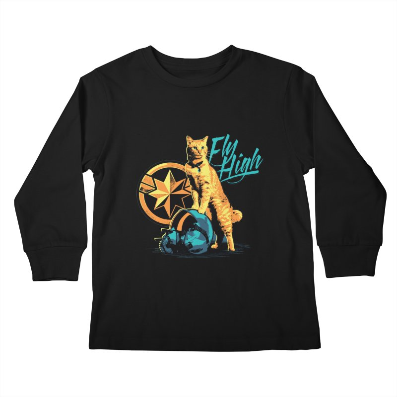Goose The Flerken Cat Fly High Kids Longsleeve T-Shirt by Game Of Thrones and others Collection