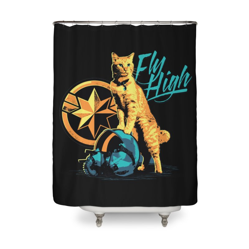 Goose The Flerken Cat Fly High Home Shower Curtain by Game Of Thrones and others Collection