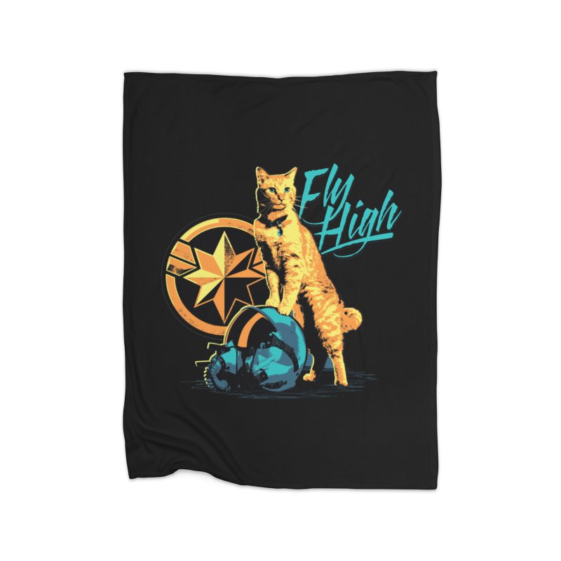Goose The Flerken Cat Fly High Home Fleece Blanket Blanket by Game Of Thrones and others Collection