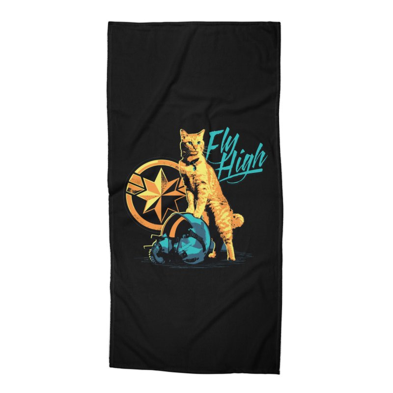 Goose The Flerken Cat Fly High Accessories Beach Towel by Game Of Thrones and others Collection