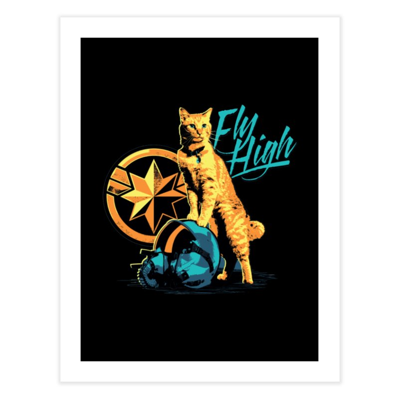 Goose The Flerken Cat Fly High Home Fine Art Print by Game Of Thrones and others Collection