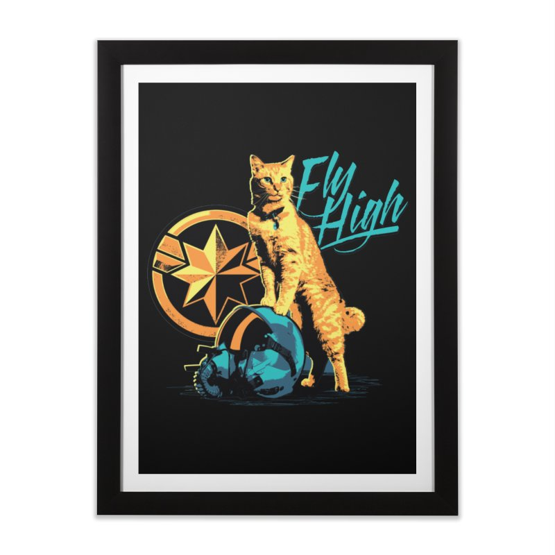Goose The Flerken Cat Fly High Home Framed Fine Art Print by Game Of Thrones and others Collection