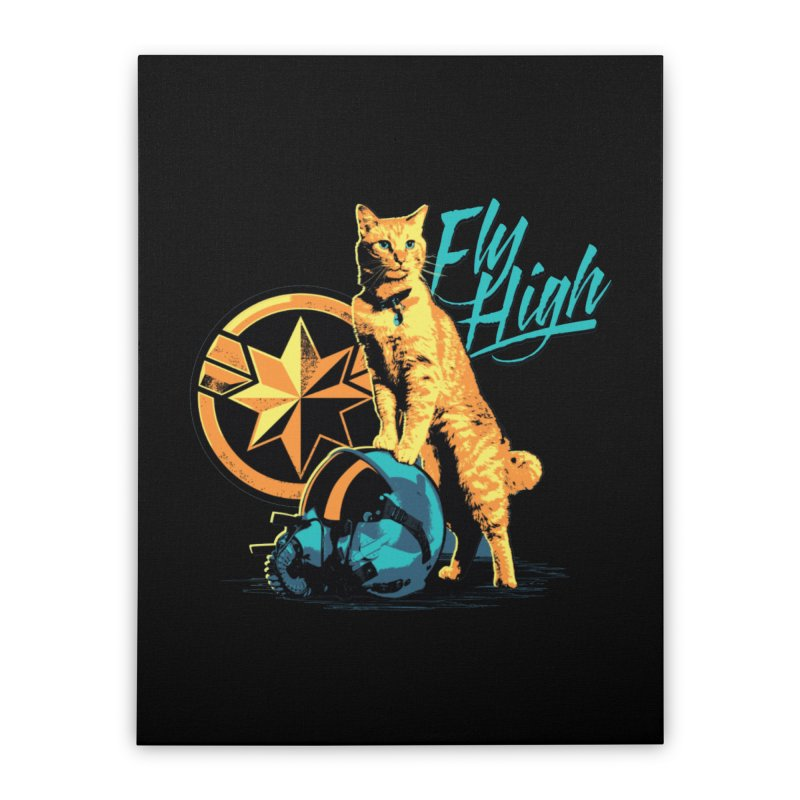 Goose The Flerken Cat Fly High Home Stretched Canvas by Game Of Thrones and others Collection