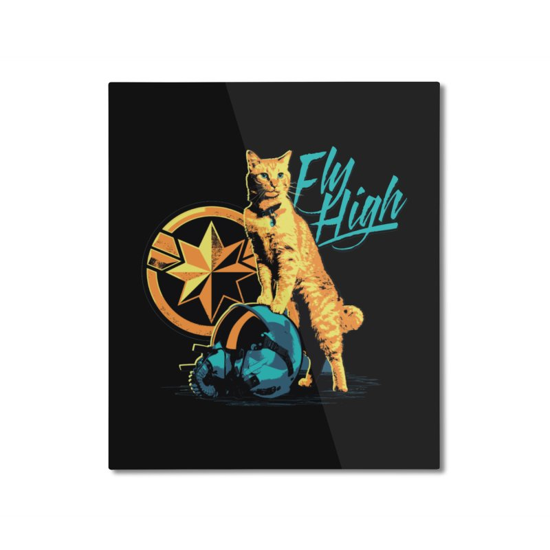 Goose The Flerken Cat Fly High Home Mounted Aluminum Print by Game Of Thrones and others Collection