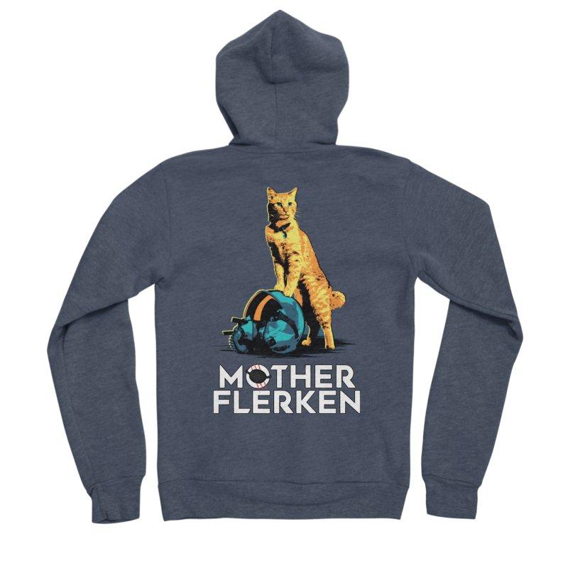 Goose The Cat Mother Flerken Captain Marvel Men's Sponge Fleece Zip-Up Hoody by Game Of Thrones and others Collection