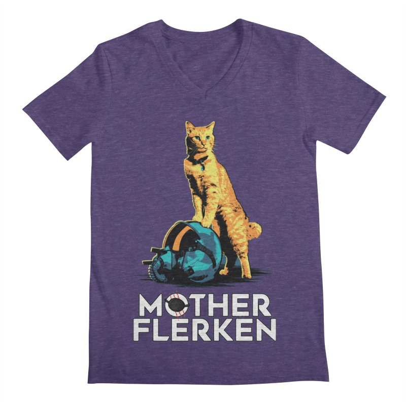 Goose The Cat Mother Flerken Captain Marvel Men's Regular V-Neck by Game Of Thrones and others Collection