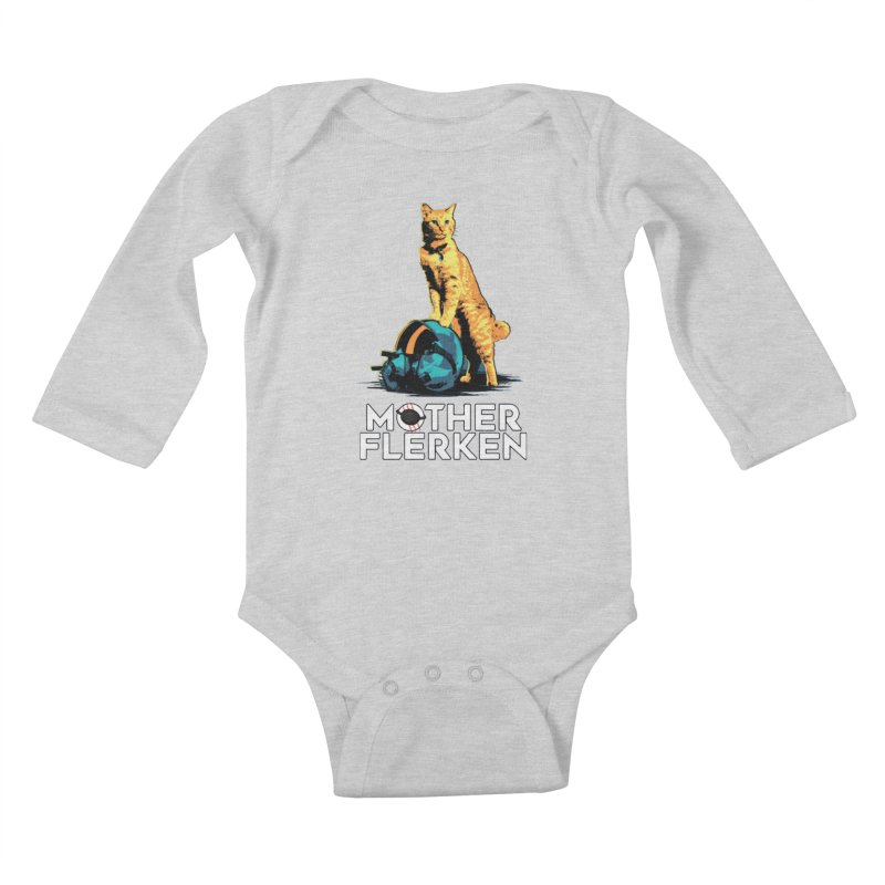 Goose The Cat Mother Flerken Captain Marvel Kids Baby Longsleeve Bodysuit by Game Of Thrones and others Collection