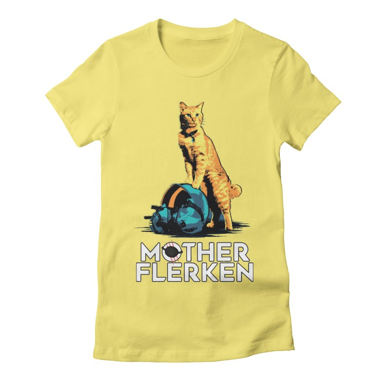 Goose The Cat Mother Flerken Captain Marvel Women's Fitted T-Shirt by Game Of Thrones and others Collection