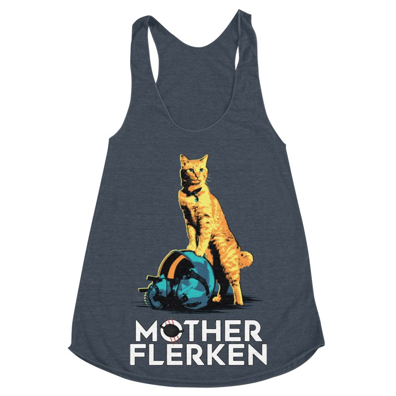 Goose The Cat Mother Flerken Captain Marvel Women's Racerback Triblend Tank by Game Of Thrones and others Collection