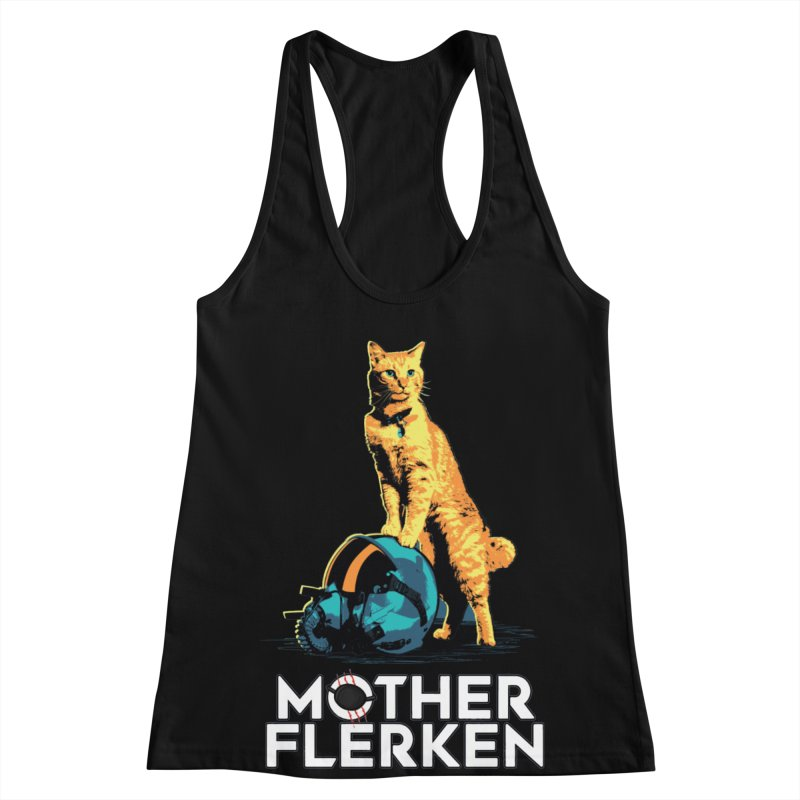 Goose The Cat Mother Flerken Captain Marvel Women's Racerback Tank by Game Of Thrones and others Collection