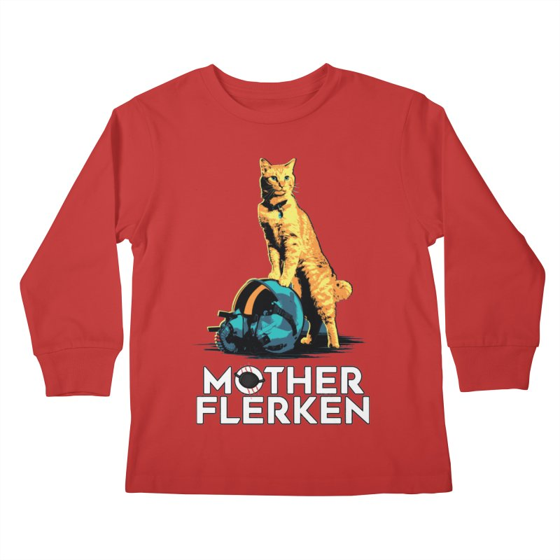 Goose The Cat Mother Flerken Captain Marvel Kids Longsleeve T-Shirt by Game Of Thrones and others Collection