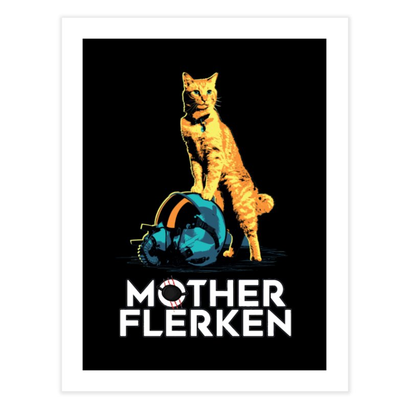Goose The Cat Mother Flerken Captain Marvel Home Fine Art Print by Game Of Thrones and others Collection