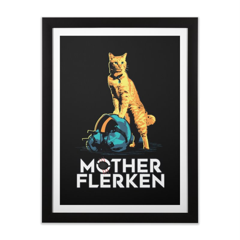 Goose The Cat Mother Flerken Captain Marvel Home Framed Fine Art Print by Game Of Thrones and others Collection