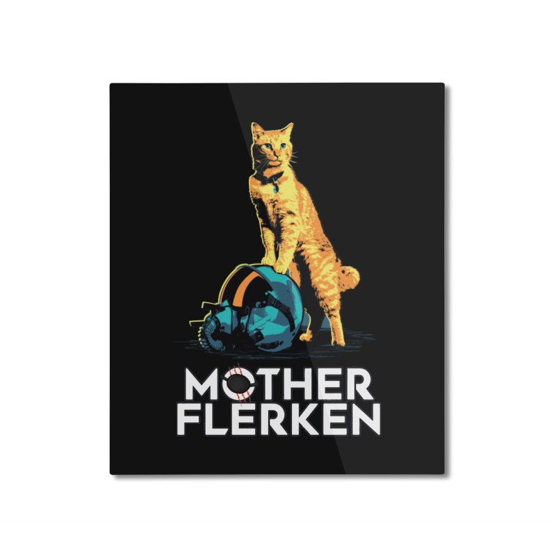 Goose The Cat Mother Flerken Captain Marvel Home Mounted Aluminum Print by Game Of Thrones and others Collection