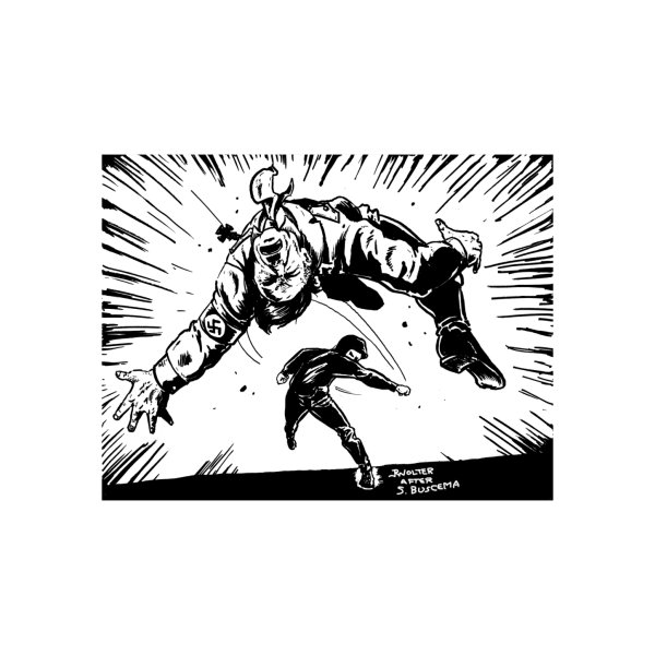image for Hitler Getting Punched (White Background)