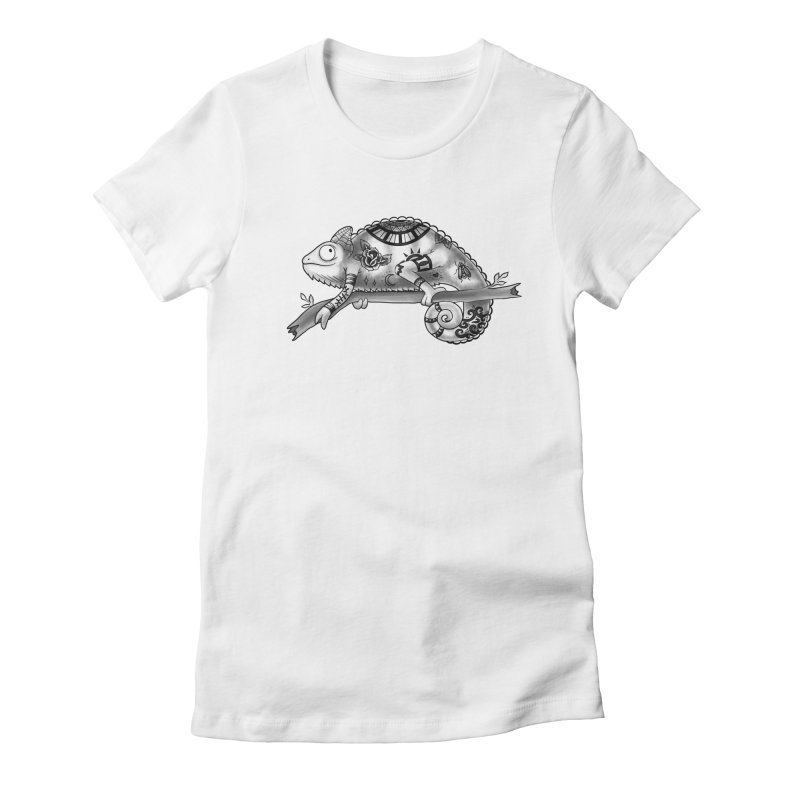 Tatted Lizard Women's Fitted T-Shirt by jordan's Artist Shop