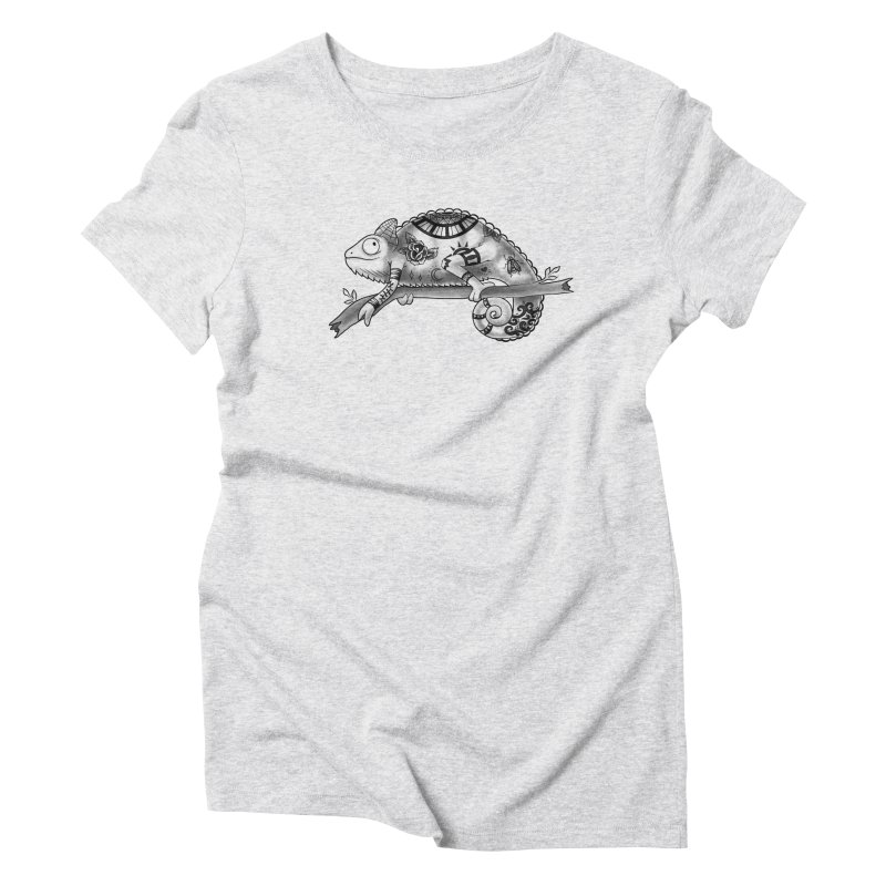 Tatted Lizard Women's Triblend T-Shirt by jordan's Artist Shop