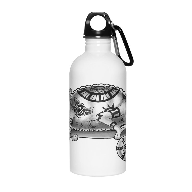 Tatted Lizard Accessories Water Bottle by jordan's Artist Shop