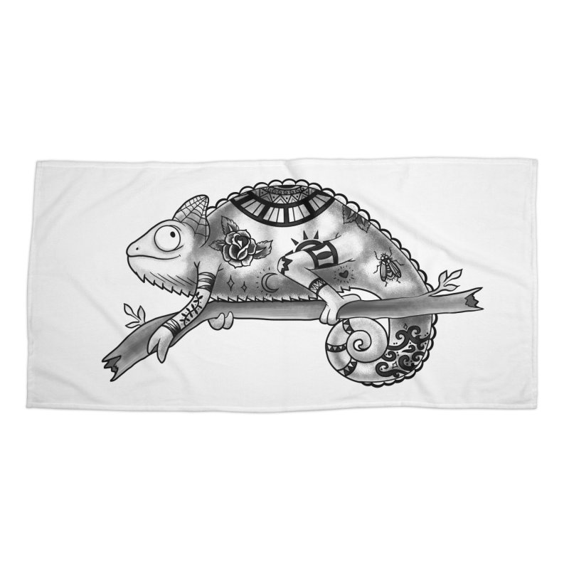Tatted Lizard Accessories Beach Towel by jordan's Artist Shop