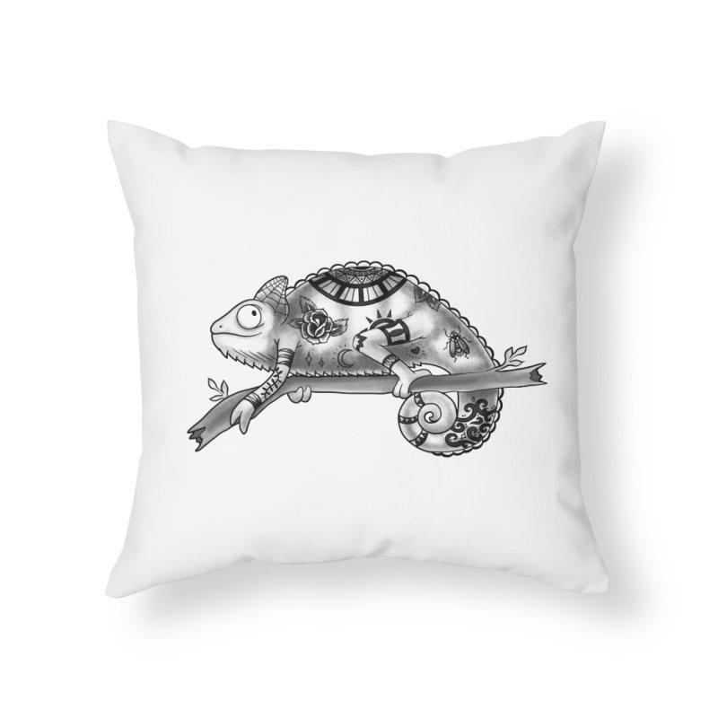 Tatted Lizard Home Throw Pillow by jordan's Artist Shop