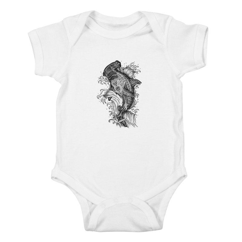 Hammerhead Kids Baby Bodysuit by jordan's Artist Shop